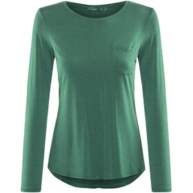 Prana Foundation LS Crew Neck Top Women True Teal Heather
